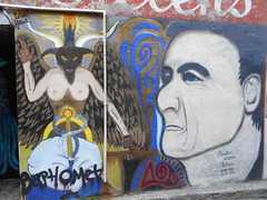 Baphomet (Joelk75) Tags: art graffiti alley tn knoxville tennessee marketsquare baphomet unionavenue wallavenue