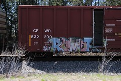 Rumor (Revise_D) Tags: art graffiti writers network graff tagging freight rumor revised fs trainart fr8 kbt fr8heaven benchedgoods