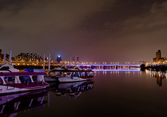 Dadaocheng wharf of Taipei city (FunnyRay(Busy.....)) Tags: trip travel blue sunset summer vacation urban color art nature night river out landscape photography boat nikon asia ray shot  taipei                  d5100 coth5