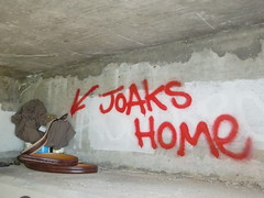 TROLL ASS SOAK THE JOAKS HOME (ELLA TABOM) Tags: california cali ga one graffiti coast am tag central tags tagged cal vandalism graff bomb 805 bombing wok hawg idt cen hbm amk hawgs hawgish