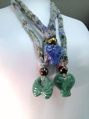 Hand knitted necklaces with Greek ceramic pendants 1 (MadeleineS) Tags: studio pepper plum knitted necklaces