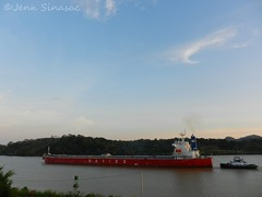 Ship on canal (Jenn Sinasac) Tags: ship panama gamboa panamacanal