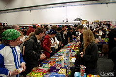 People Buying Candies (smellerbee) Tags: newzealand anime nerd comics toys media geek manga culture auckland nz convention scifi armageddon collectables cartoons 2012 asbshowgrounds