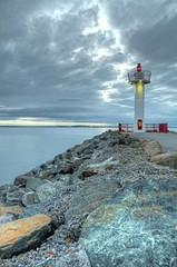 """Howth """"lighthouse"""" (raghnallg (200,000+ views).) Tags: howth lighthouse landscape seascape light hdr 4images photomatix topazadjust"""