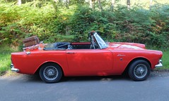 SUNBEAM Alpine 1725 rouge (Profil) (xavnco2) Tags: fte andelle 2016 forgesleseaux seinemaritime normandie normandy france rassemblement automobile autos cars meeting raduno british car roadster cabriolet convertible sunbeam alpine 1725 rouge red rootes group
