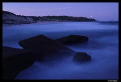 Coastal light, NSW (Dan Wiklund) Tags: australia nsw centralcoast lighthouse bluehour longexposure waved water ocean coast beach d800 2016