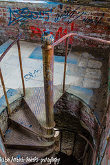 Way down the spiral staircase (Ambach Raiders Photography) Tags: urbanexploration urbex rusty dusty abandoned decay stairs spiral staircase lostplace chateau noisy miranda wendeltreppe