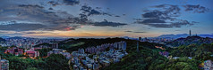 New Lens Testing  (Sharleen Chao) Tags: cloudy afterglow sunset urban cityscape taipei101 101 taiwan taipei cloudfire skyline canon canoneos5dmarkiii landscape nopeople horizontal   101  longexposure  anticrepuscularrays   capitalcity hdr panorama 40mm