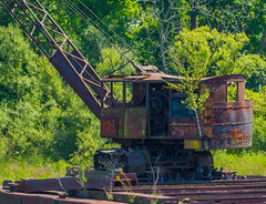 Succumbing To Rust (Catskills Photography) Tags: abandoned odc whileyouweresleeping rust steamshovel heavyequipment construction canon70300mmllens vehicle