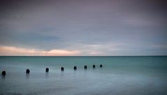 Eight..... (hall1705) Tags: eight beach sea shore westsussex seascape seaside breakwater water nature d3200 longexposure le sky clouds goring