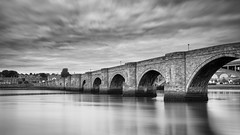 Three Bridges (davepsemmens) Tags: berwickupontweed river tweed bridge bw longexposure