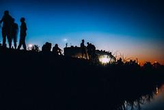 wild at heart (ewitsoe) Tags: poznan poland evening silhouettes night sunset dusk river warta ewitsoe nikond80 le summer summernight polska friday eternal vibes atmosphere city cityscape urnban moment urban