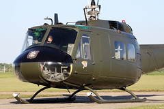 Bell UH-1H Iroquois 560 (G-HUEY) - North Weald, August 2016 (StrikeEagle492) Tags: ghuey vietnam falklands argentina belluh1h iroquois 560 gnatdisplayteam essex northweald airfield airshow aviation airforce military retro warbird army usarmy unitedstates