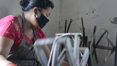 Basic Tools (www.WeAreHum.org) Tags: textile nepal thread bobbins gandhi tulsi ashram school for women kathmandu sowing weaving winds threads mechanical loom wood shuttles feet arts