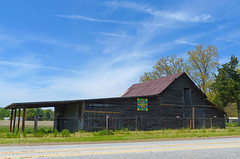 Favorite Barn on Suber Road (FagerstromFotos) Tags: barn tinroof fence trees farm barnquilt suberroad greersc southcarolina upstate structure wood weathered