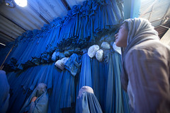 An Afghan burqa shop (Special IG for Afghanistan Reconstruction) Tags: afghanistanmobilemoneyproject imtfi instituteformoney technologyandfinancialinclusion frogdesign wwwfrogdesigncom wwwimtfiuciedu kabul afghanistan 004