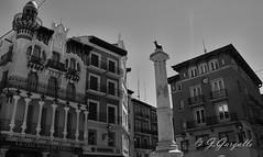 Plaza de el Torico (J.Gargallo) Tags: teruel torico plaza aragn espaa spain pueblosdeespaa canon canon450d canonefs18200 eos eos450d 450d blancoynegro blackwhite blackandwhite byn bw