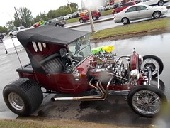 Wet lil' Bucket (blondygirl) Tags: showshine car auto celebrationchurch june19 fathersday carshow 15thannual yeg sa 2016 antiquecars sportcars musclecars imports trucks motorcycles rain raindrops