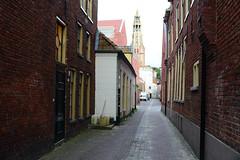 Groningen Alley (Bob Hawley) Tags: nikond7100 nikon24f28 netherlands summerholidays groningen streetscenes towers churches
