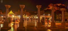 Alicante (lilcris) Tags: alicante spain puertodealicante explanada castillodesantabrbara casacarbonell hotelmeliaalicante nocturnas lucesysombras lightsandshadows night shadows people columnas