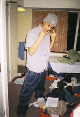Anthony (Gary Kinsman) Tags: hampsteadstudentcampus hampstead childshill nw3 kidderporeavenue london film kingscollegelondon kcl hallsofresidence studentcampus students university fun youth young 2001 ellison flash bedroom night evening pose posed