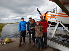 Guide, Sean, Jon & Stef, Fred, and our new-found friend, Colin; a nice kid who kept us company during our layover in Bettles and helped us schlep our bags over to our Otter