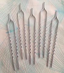 set of 5 hand made kanzashi hair prongs (amaebi79) Tags: kanzashi tsumami japanese hair prong stick handmade etsy