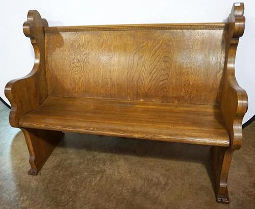 Oak Church Pew, 4 Feet Long ($392.00)