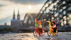 Plundering in Kln (Reiterlied) Tags: 18 35mm bike bridge cathedral cologne d5200 dslr dom germany kln lego legography lens minifig minifigure nikon photography pirate prime reiterlied stuckinplastic toy