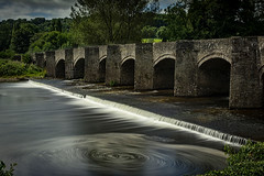 Crickhowell bridge (cliveg004) Tags: crickhowellbridge crickhowell bridge medieval stone arches bridgeendinn le riverusk wales breconbeacons blackmountains longexposure swirl nikon d5200 1685mm