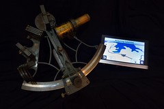 The old and the new (johnmartin25) Tags: sailing marine juxtaposition navigation gps sextant