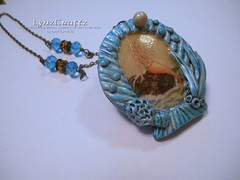 Sacred Ocean (LynzCraftz) Tags: polymerclay resin swellegant steampunk handmade oneofakind jewelry necklace pendant