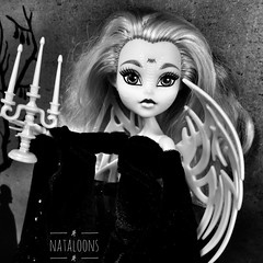 Batsy Claro on the moors as a Gothic heroine (Nataloons) Tags: doll toy mattel monsterhigh monster high batsy claro white vampire bat gothic heroine moors vintage classic