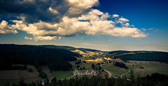 Fairy-tale-landscape (Double.D - Photography) Tags: schwarzwald schluchsee blackforest landschaft landscape sky himmel wolken clouds outdoor hiking wandern canon canon600d doubled sigma 1020mm panorama forest sun shadows