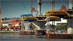 Mersey Gateway Project (Six Lane Cable Stayed Bridge) 2nd October 2016 (Cassini2008) Tags: merseygatewayproject merseylink rubricaengineering rubrica formtraveller bridgeconstruction construction rivermersey widnes runcorn cablestayedroadbridge