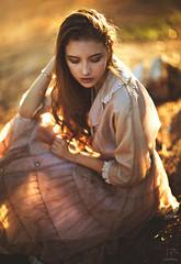 Dusk ({jessica drossin}) Tags: jessicadrossin girl woman naturallight bokeh losangeles dress vintage timeless sheer wwwjessicadrossincom