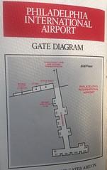 Midway Philadelphia diagram, 1989 (airbus777) Tags: phl midwayairlines philadelphia airport map diagram 1989