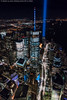 Aerial Tribute in Light - 9/11/16 (DSC09933) (Michael.Lee.Pics.NYC) Tags: newyork aerial helicopter flynyon onewtc worldtradecenter night architecture cityscape tributeinlight 2016 911 brooklyn sony a7rm2 fe2470mmgm