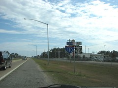 TO US 90 (US 71) Tags: mississippi highways roadsigns highwaysigns i110 interstate110