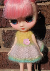 Candy Darling Scrappy Dress in Daffodil, Baby Pink and Aqua...A new OOAK series I am beginning to work on!