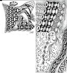 Challenge-112-1-and-2 (LindaMariestamps) Tags: tuxedo tangles zentangle zentangleinspiredart divachallenge lindaselymes ledenzer