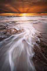 Radiate - North Beach. Perth (Luke Austin) Tags: sunset seascape waves perth northbeach sunrays westernaustralia godrays