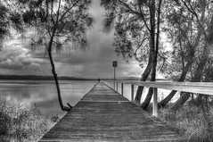 The 3rd pier Long Jetty  black and white (loobyloo55) Tags: