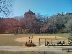 Morningside Park (pburka) Tags: park cathedral baseball morningsidepark
