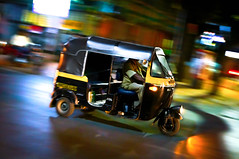 (Rob-Shanghai) Tags: street india colour lights asia traffic bokeh rickshaw pune nex6 e24f18za indianex6