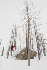 Rockhopping in the Whitewater backcountry (Kjetil S.) Tags: mountain canada ski mountains skiing backcountry