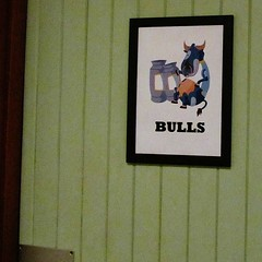 Bull! (Cathlon *TryingtoCatchupCommentsagain*) Tags: strange sign cow funny bull ironic gents dairyfarm scavchal11