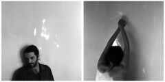 (Leanne Surfleet) Tags: light white selfportrait black 120 film shadows illumination yashica collaboration obscurity leannesurfleet fredericchabot
