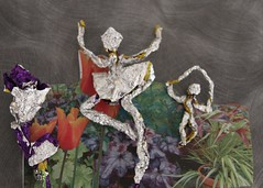 Foil Frolics ( EkkyP ) Tags: art dancers foil tabletop uploaded:by=flickrmobile flickriosapp:filter=nofilter