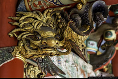 Dragon Head Fish Body Bracket  (olvwu | ) Tags: art temple folkart traditional bracket taiwan landmark historic tao chiayi taoist masterpiece   traditionalarchitecture historicsite historicbuilding jungpangwu oliverwu oliverjpwu chiayicity     chiayicounty  baoshengdadi olvwu  jungpang   dadaogong jenwutemple  decoratedbracket